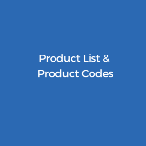 product list and codes